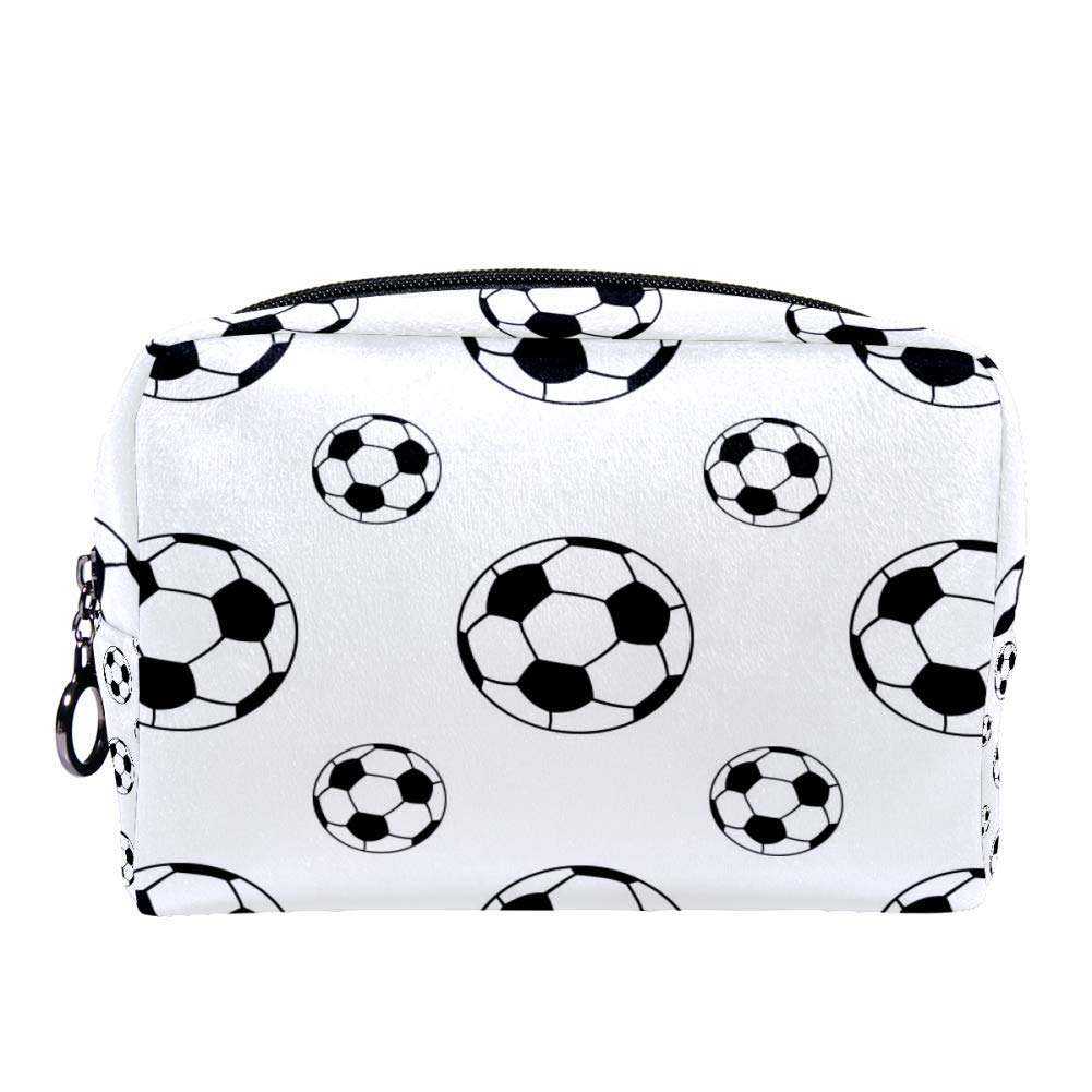 ANINILY Football Cosmetic Bag Makeup Bags for Women,Small Makeup Pouch Travel Bags for Toiletries Waterproof Multifunction Portable
