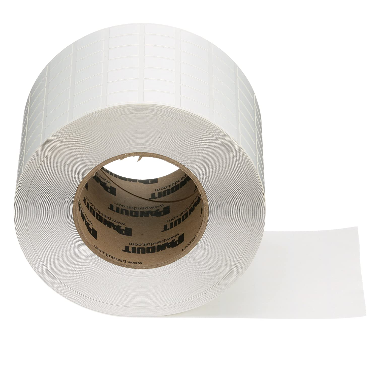 Panduit N100X075CBT Thermal Transfer Non-Laminated Label, Vinyl Cloth, White (10,000-Pack)