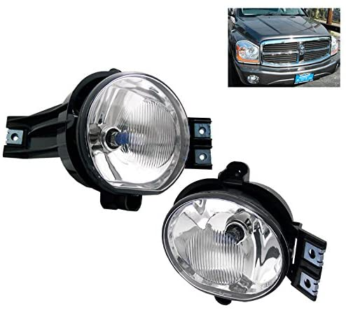 ZMAUTOPARTS For Dodge Ram 1500/2500/3500/ Durango Bumper Chrome Fog Lights Lamp