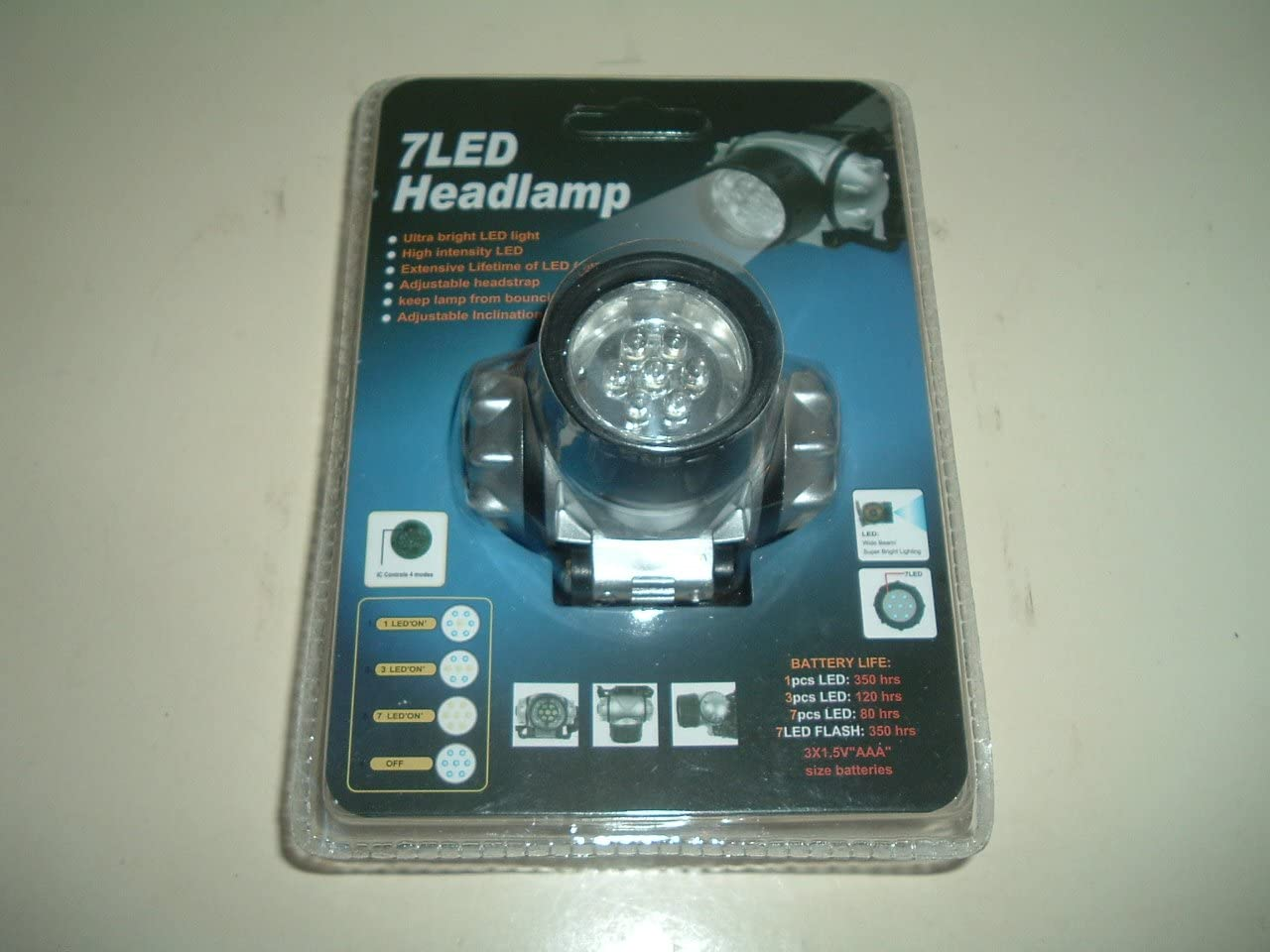 1 X 7 LED Headlight with Strap with 3 Modes