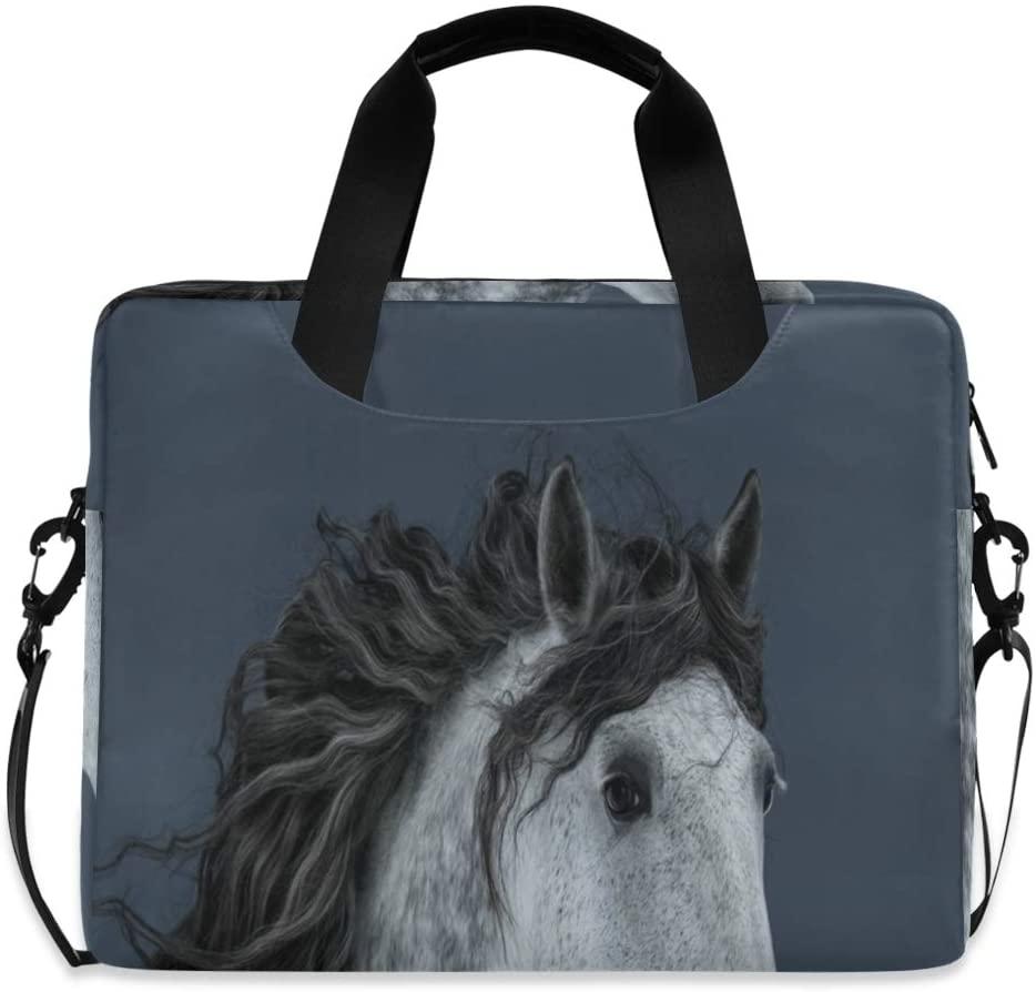 Laptop Bag, Funny Long-Maned Horse Laptop Briefcase Bag, 16 Inch Slim Laptop Backpack Laptop Case