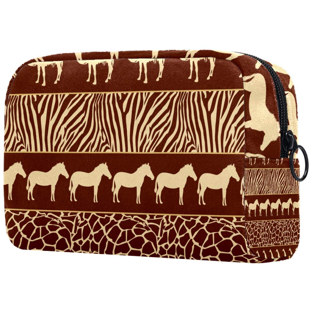 African Animals With Skin Prints Makeup Bags Portable Tote Cosmetics Bag Travel Cosmetic Organizer Toiletry Bag Make-up Cases for Women