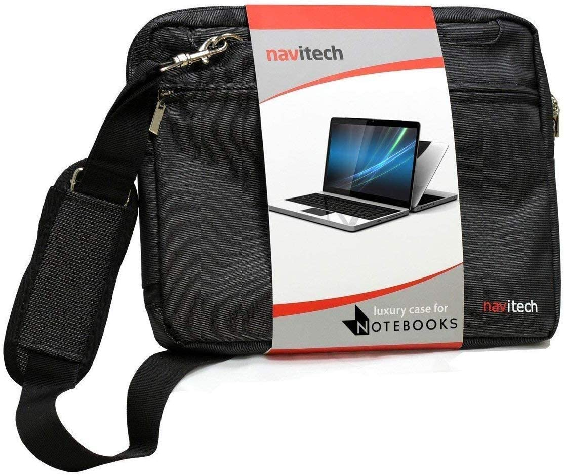 Navitech Black Sleek Premium Water Resistant Laptop Bag - Compatible with The Dell Precision 5750 17.3 Mobile Workstation
