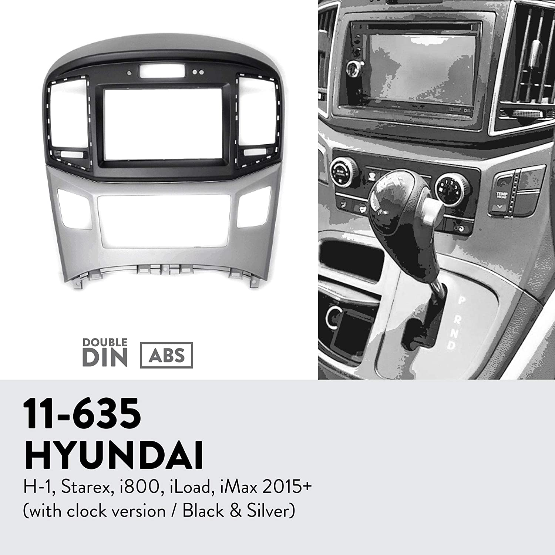 UGAR 11-635 Trim Fascia Car Radio Installation Mounting Kit for Hyundai H-1, Starex, i800, iLoad, iMax 2015+