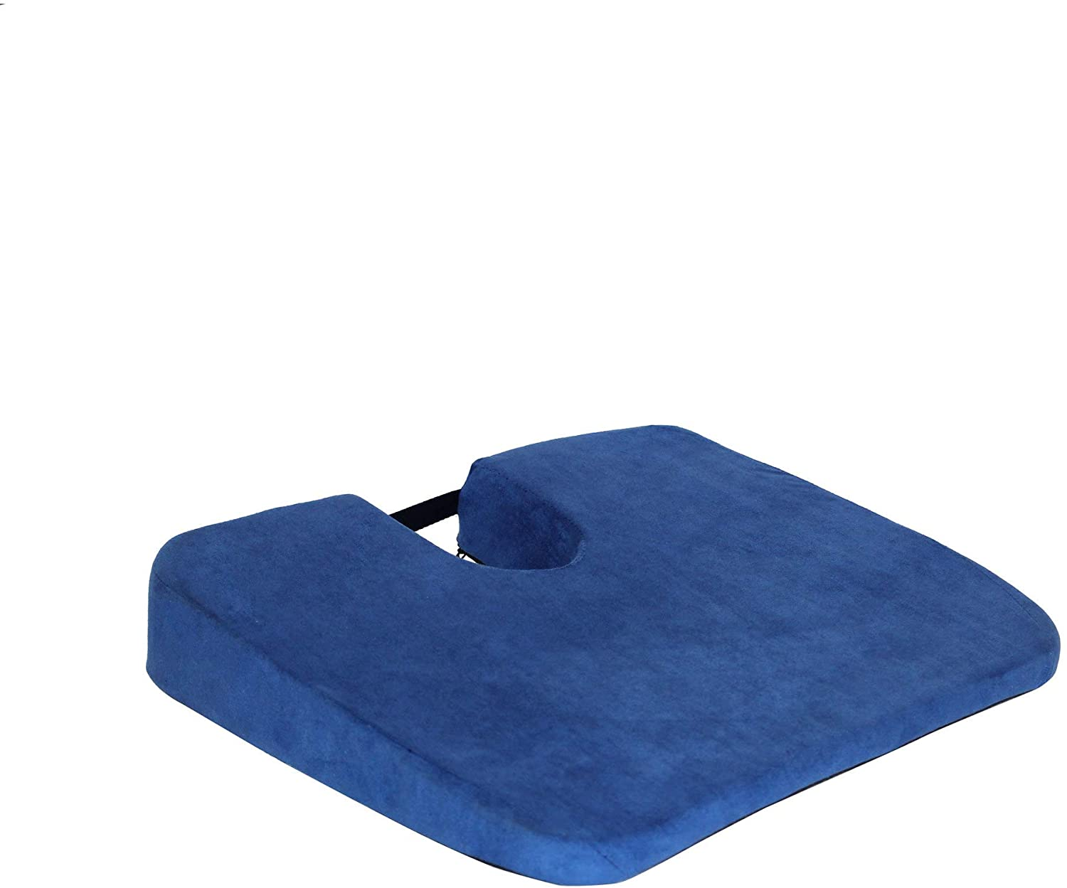 Q QUALITY BRAND COMPANY McCartys Q-KOMFORTKUSH-BLU 17 in. Wide Wedge Sacro-Ease Bottom Seat Cushion Support 16x17x3 in. Blue Color