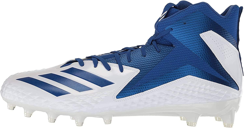 adidas Men's Freak X Carbon Mid Football Shoe, White/Collegiate Royal/Collegiate Royal, 8 M US