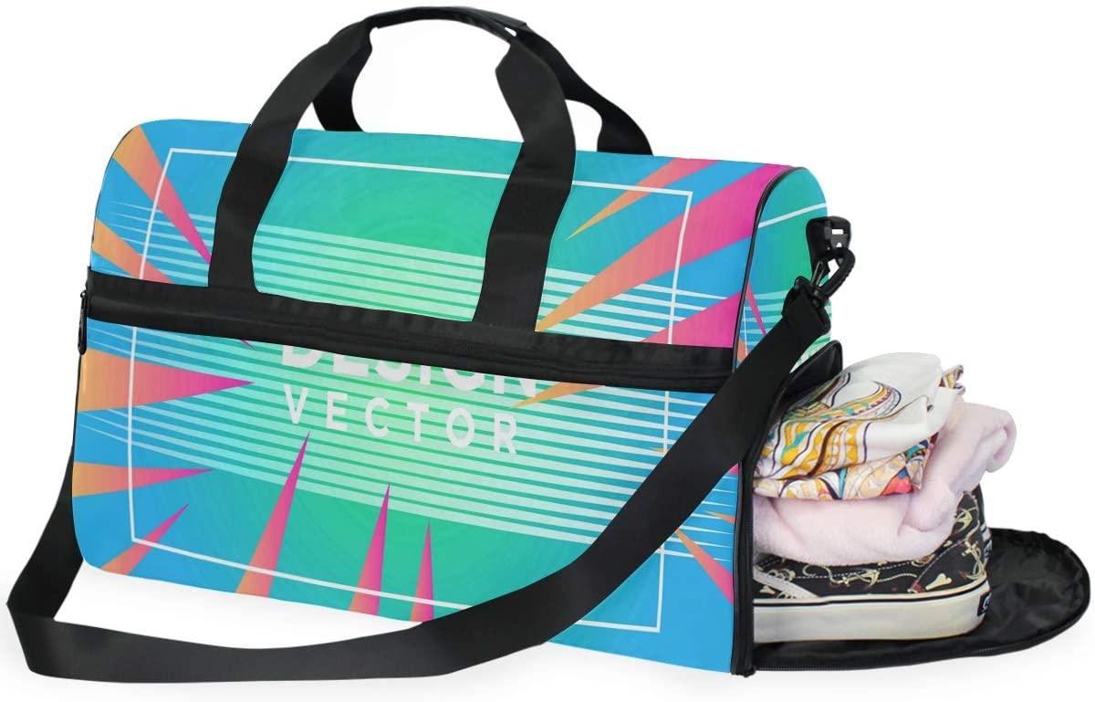 Large Duffle Bag Abstract Gradient For Business Gym Sport Travel Weekender Bag Handbag for Women Men
