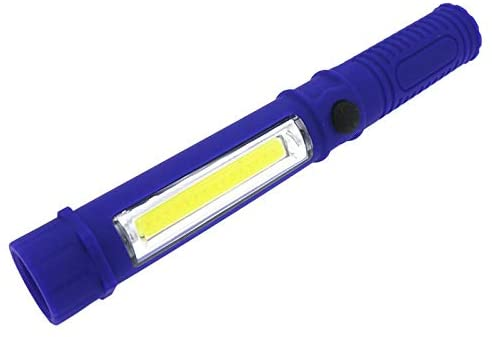 Flashlight, Blue Portable Mini COB + XPE LED Torch Maintenance Work Torches Magnet Adsorption Flashlight For Field Adventure (Body Color : Blue)