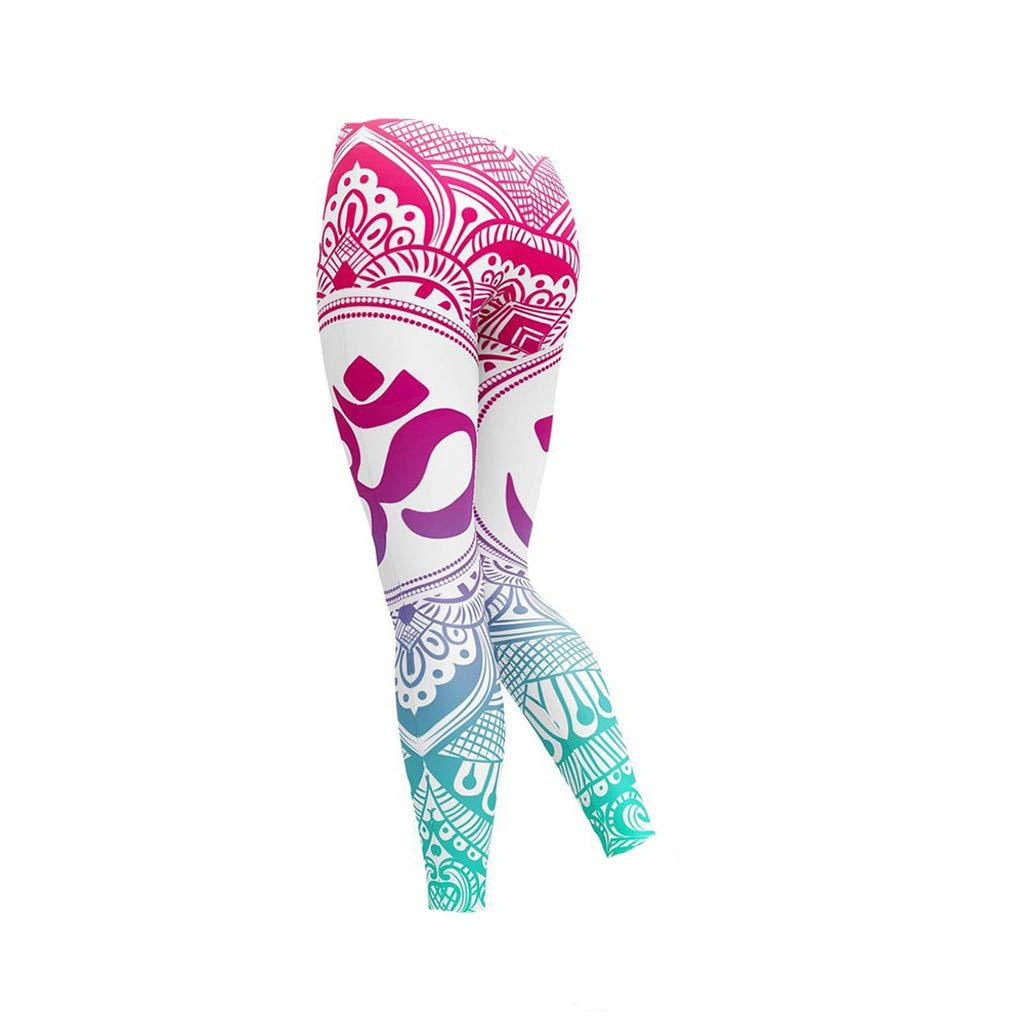 Fitness Yoga Pants, Womens Galaxy Leggings Tummy Control Sport Athletic High Waist Yoga Pants, Yoga Clothing for Outdoor Sports HotSales Pink L