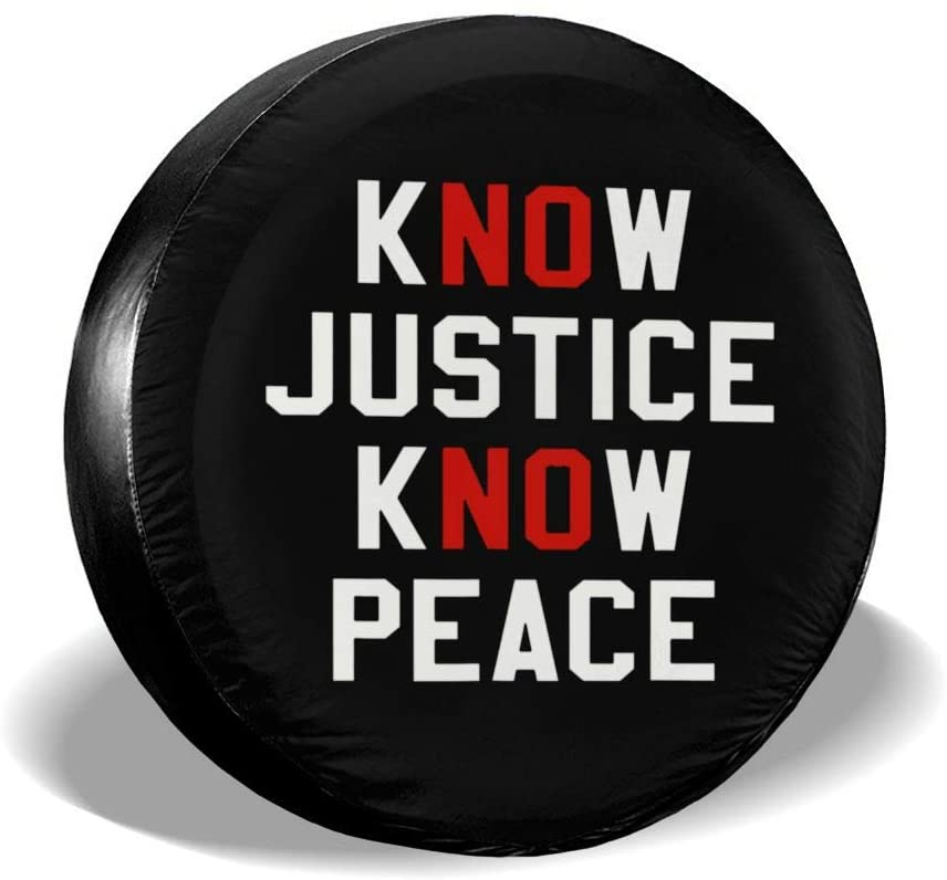 SDHEIJKY Know Justice Know Peace Personality Accessories Universal Fit Spare Wheel Tire Cover