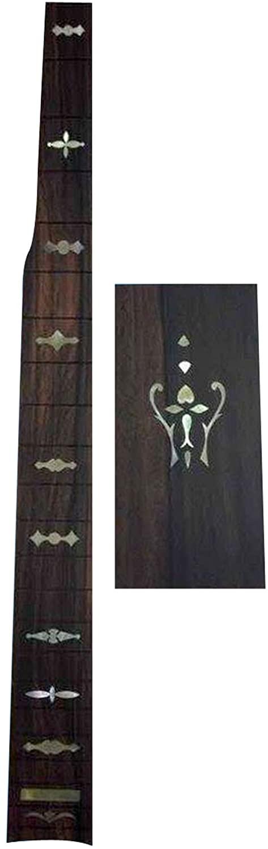 Bruce Wei Rosewood Banjo Headplate & Slotted Fretboard w/MOP Inlay (4)