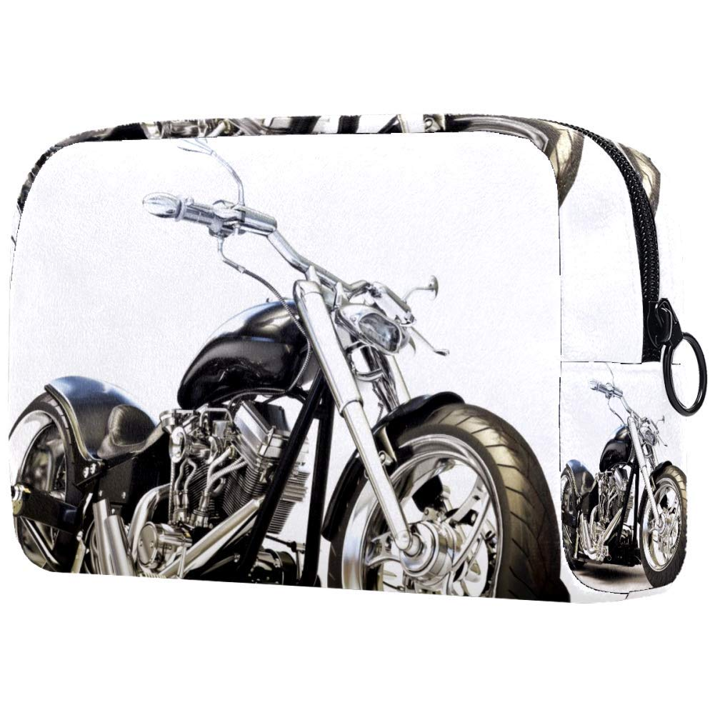 Cool Black Motorcycle Makeup Bags Portable Tote Cosmetics Bag Travel Cosmetic Organizer Toiletry Bag Make-up Cases for Women