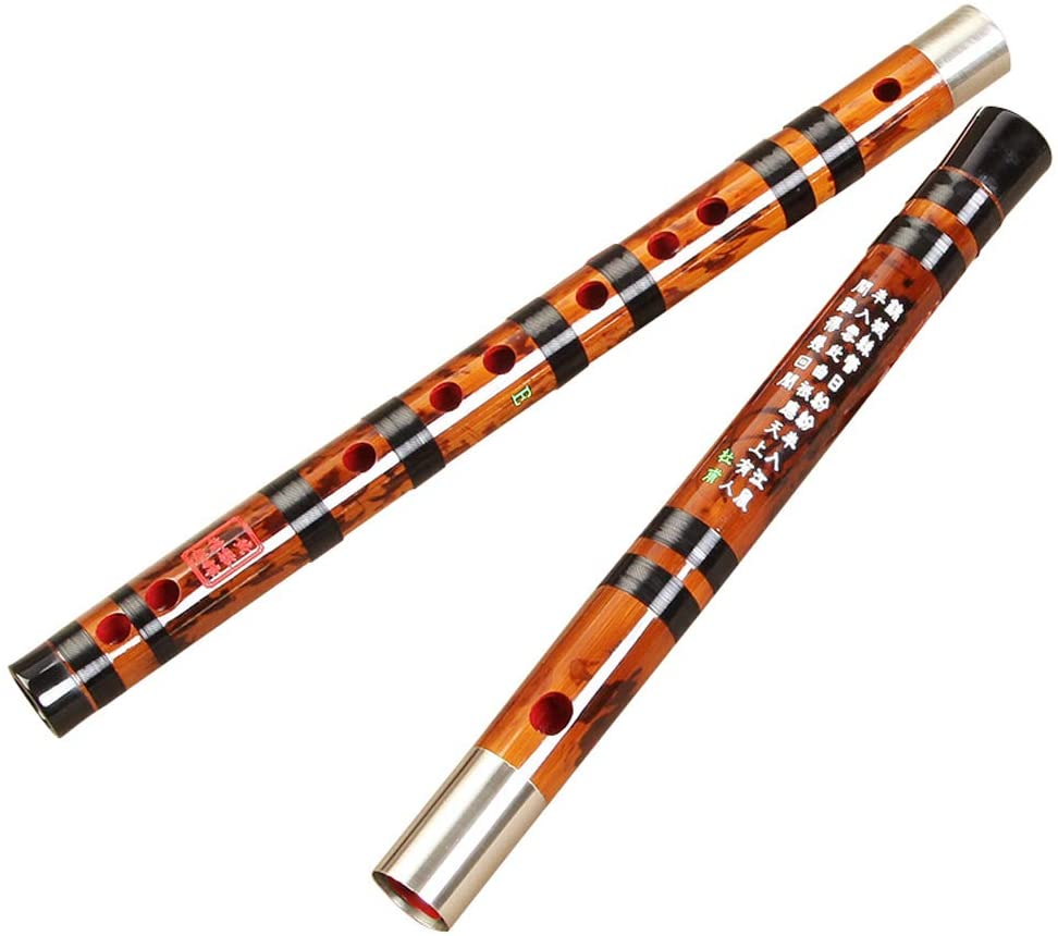 Guanso Professional Bamboo Flute Chinese Dizi High Level 6 Years Old Bitter Bamboo Precise Sound Handmade for Performance (Color : F)