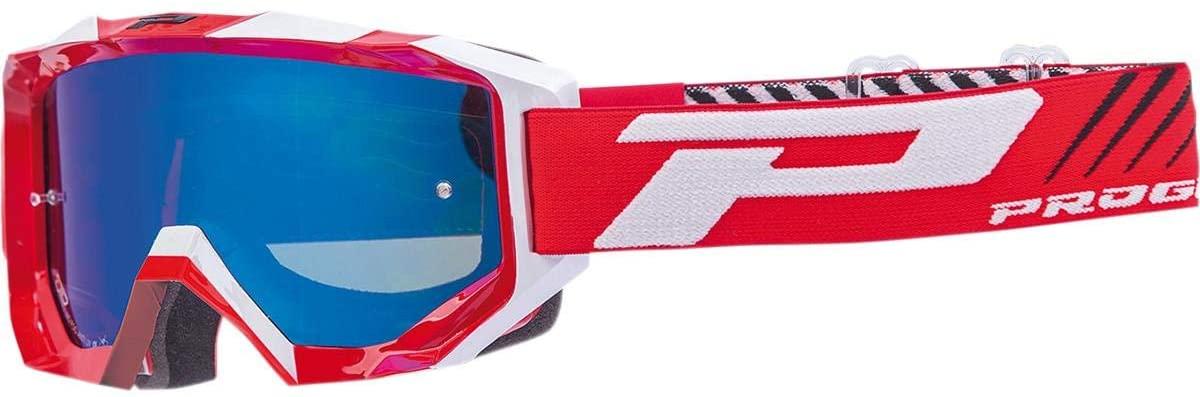 Pro Grip 3200 Enduro MX Goggles w/Mirror Lens Black/Red/White