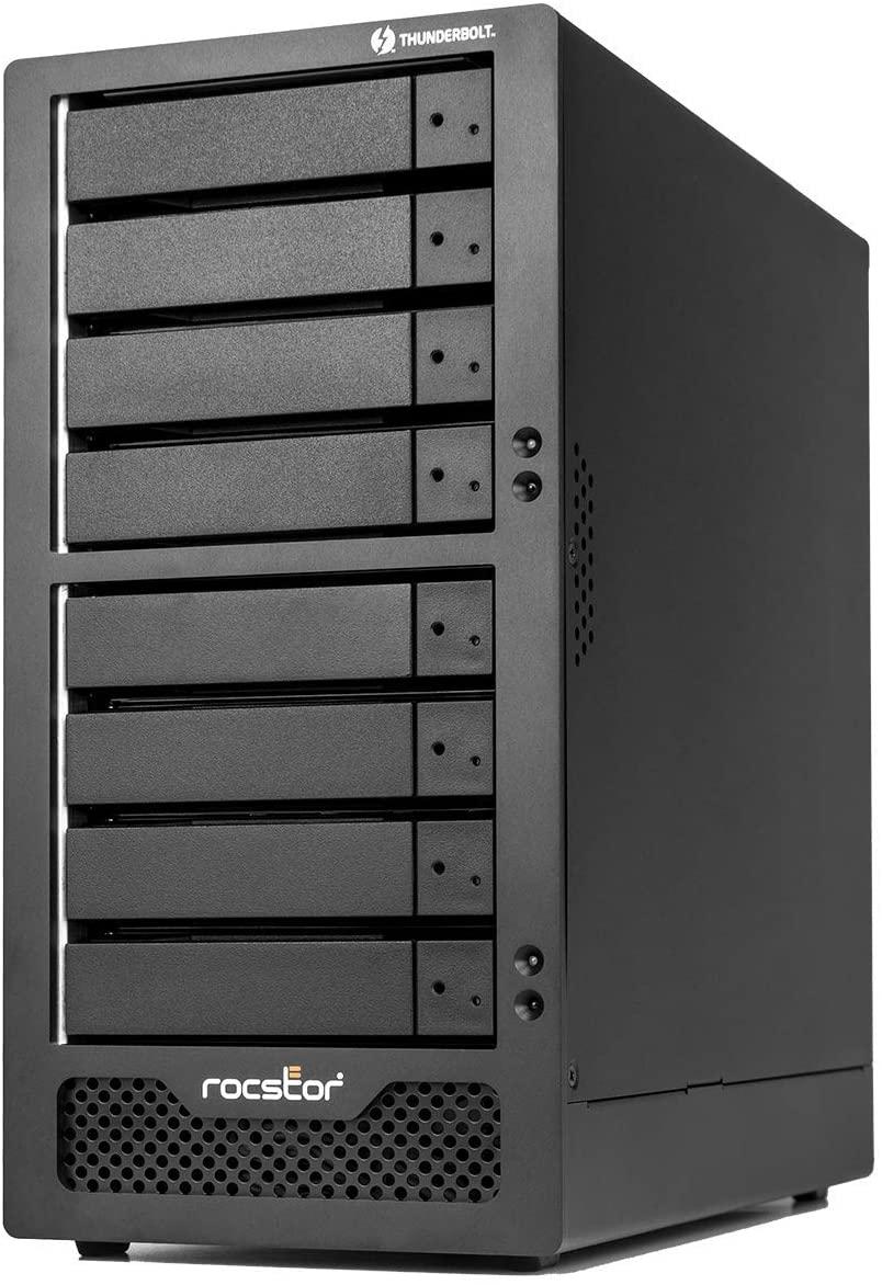Rocstor GP35XX-01 Rocpro T38 - No Drives - Dual Thunderbolt 3/ Mini DP 8-Bay Desktop RAID 0, 1, 10, 5, 50, 6, 60 Storage