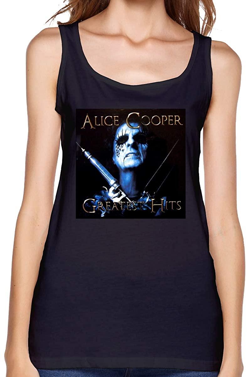Cfgerends Alice Cooper Womens Design Vests Fashion Tank Top Summer Vest Home Office
