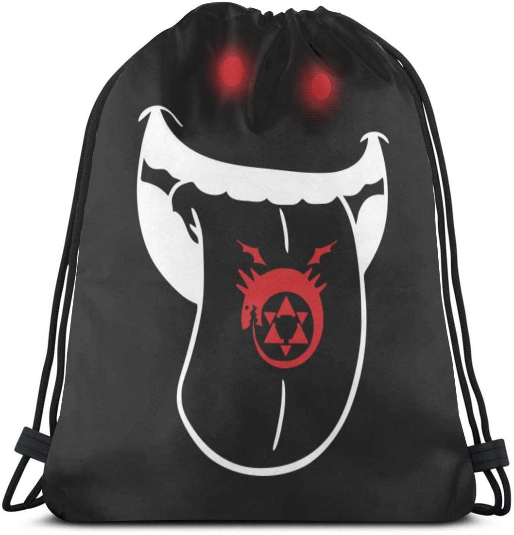 Fullmetal Alchemist Drawstring Bags Gym Bag Multifunctional Cinch Tote Bags For Sport Gym Shopping Yoga