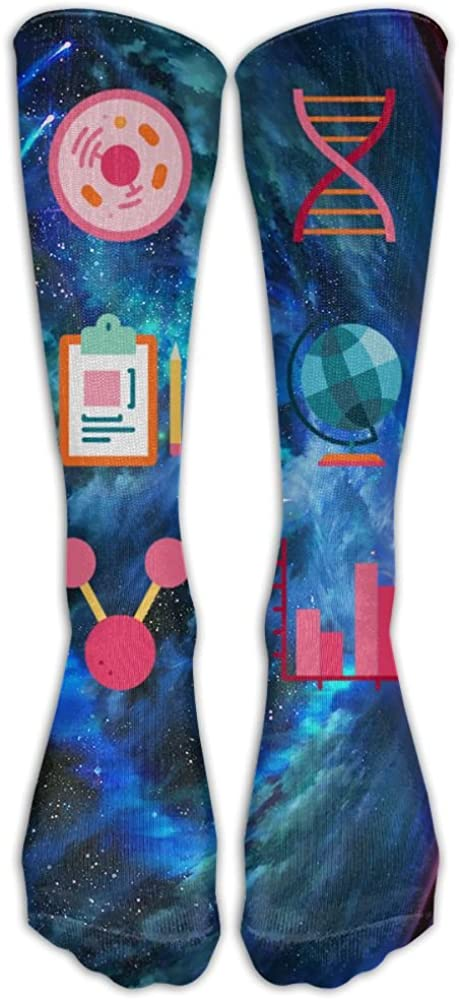 NEW I Love Science Socks, TO-JP Funny Novelty Cosplay Long Tube Compression Stockings