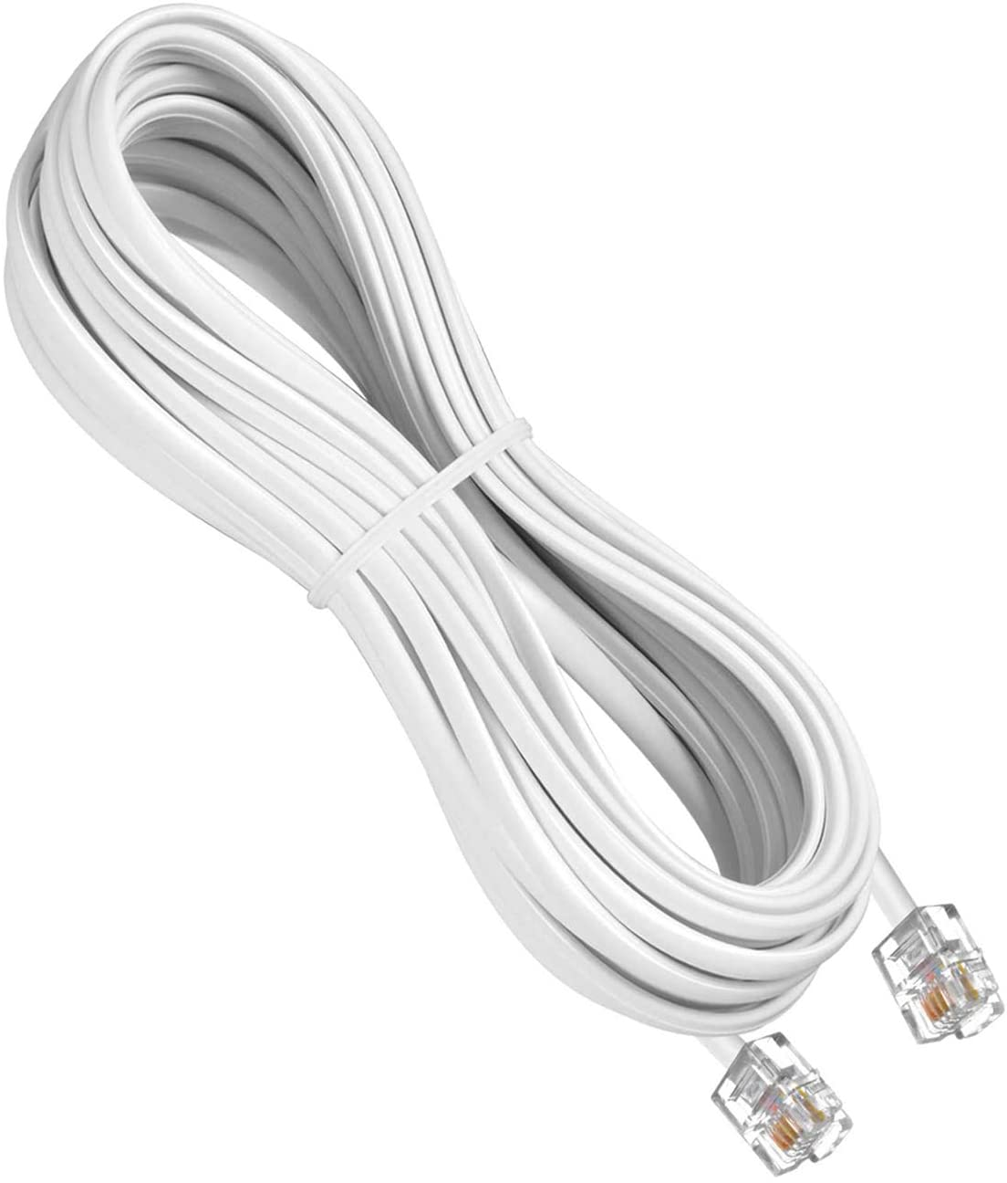 URBEST 5M RJ11 6P4C to RJ45 8P8C White Telephone Connector Plug Cable for Connecting Phone Line to The Internet (5M) …