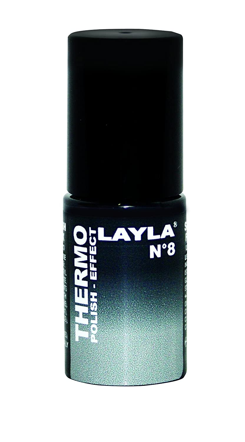 Layla Thermo Polish Effect Colour Changing Nail Varnish (BLACK TO GREY)