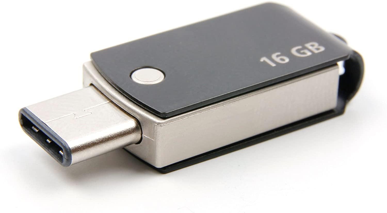 DURAGADGET 16GB USB Type-C Flash Drive (Black) for LG G5 | G6 | G6+ | G7 ThinQ | Q Stylus | Q6 | Q8 | V20 | V30 | V30S ThinQ | V35 ThinQ