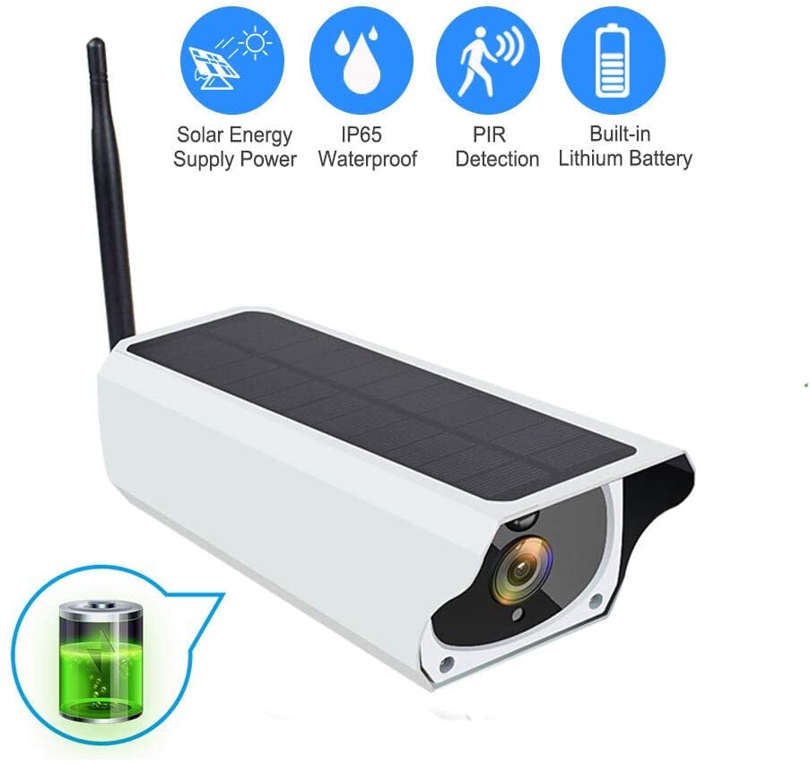 XIAOTIAN Solar WiFi IP Camera 1080P HD Outdoor Charging Battery Wireless Security Camera PIR Motion Detection Bullet Surveillance CCTV