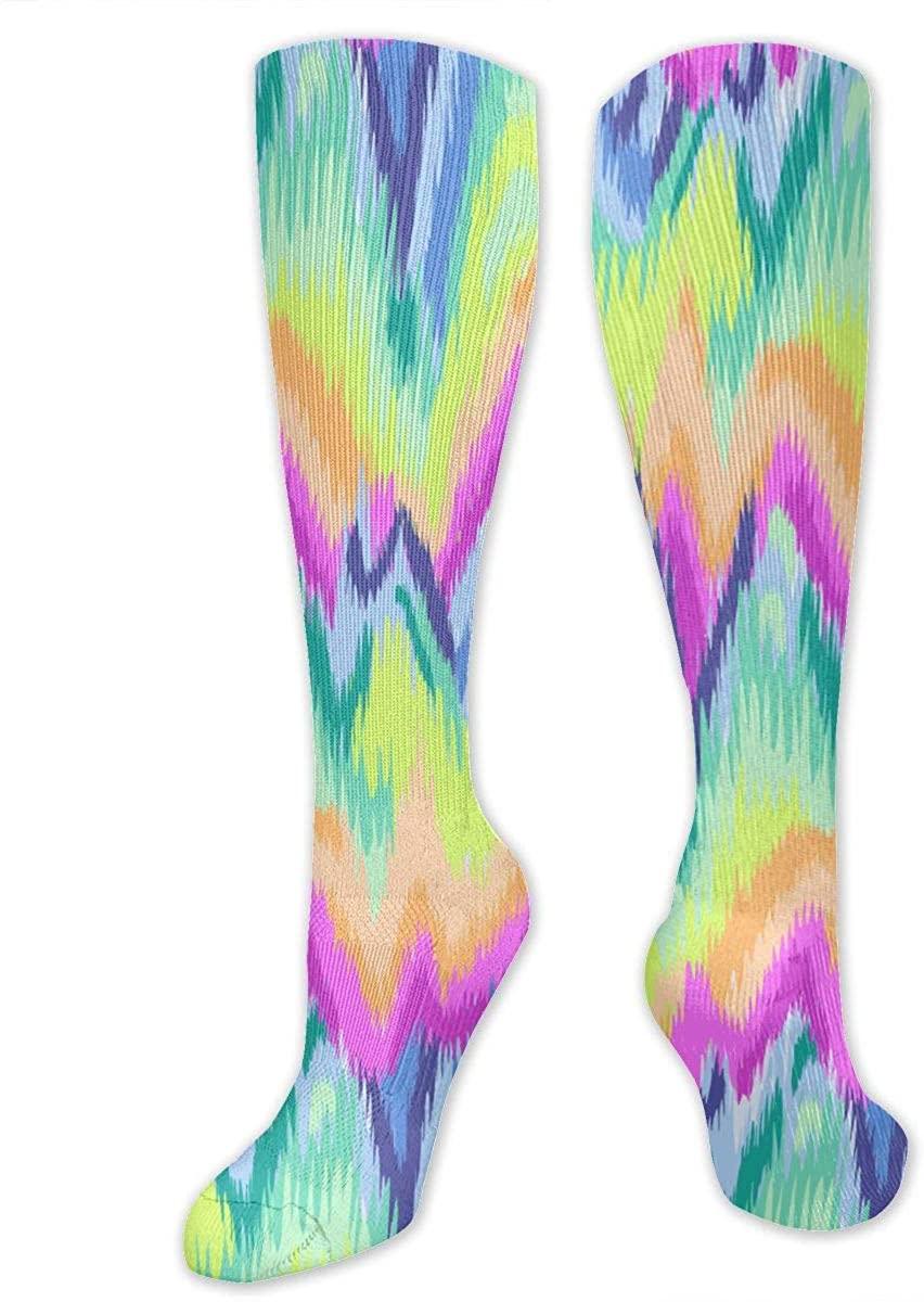 Tie Dye Athletic Socks Thigh Stockings Over Knee Leg High Socks