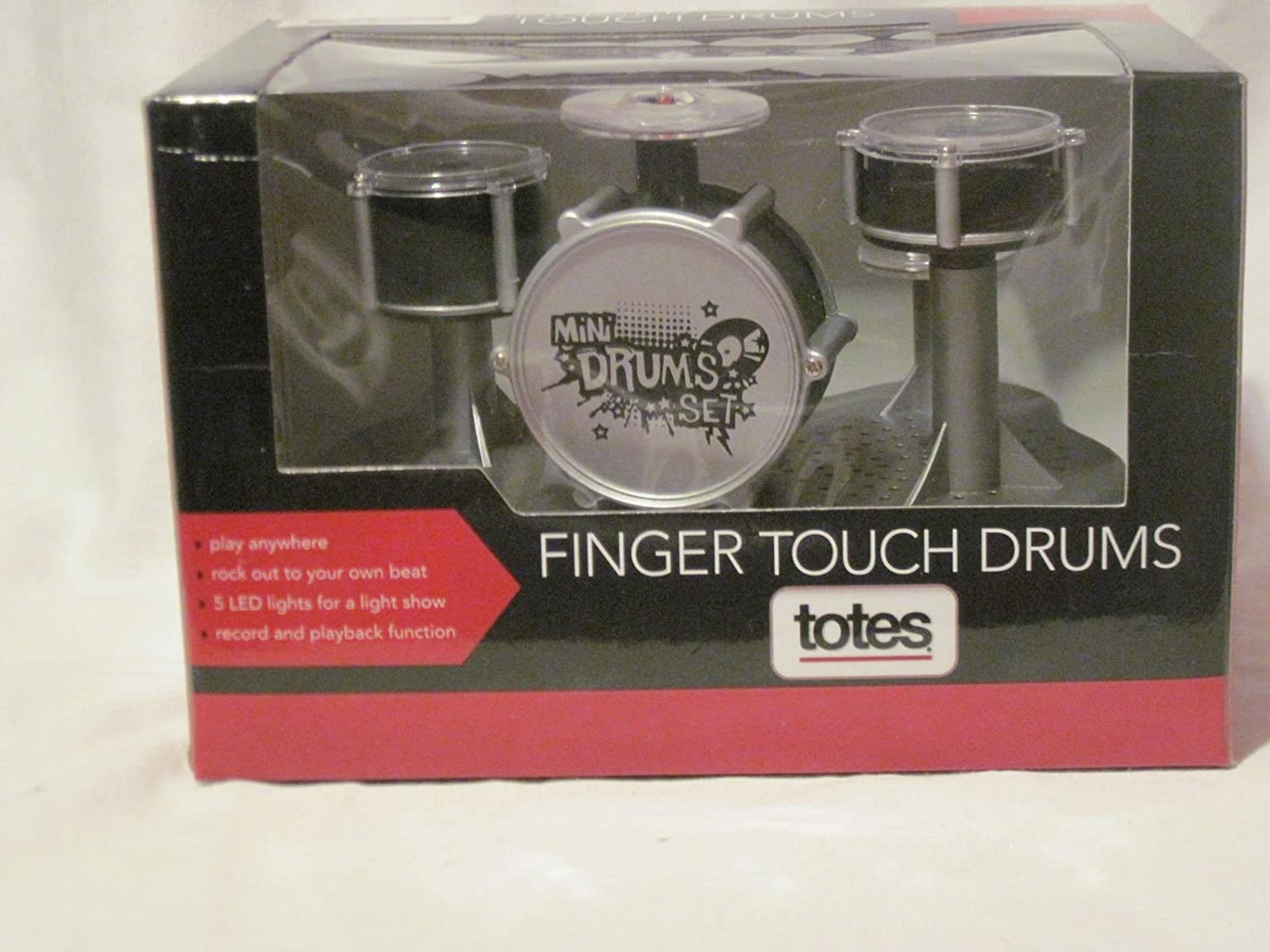 totes Finger Touch Drums - Rockin Beats at Your Fingertips - Play Anywhere - Record and Playback Function -