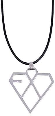 NationInFashion EXO Necklace Pendant Kpop Accessories Merch Titanium Steel Alloy Logo Bracelet- Brand