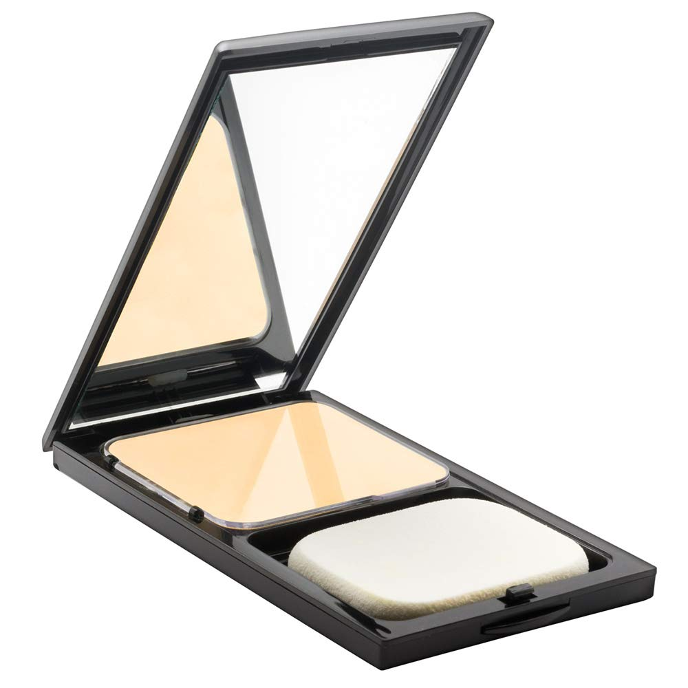 Sacha Buttercup Face Powder Compact. Translucent Powder, Controls Oils & Shine. One Shade of Pressed Powder, Suitable for all Skin Tones, 0.45 oz.