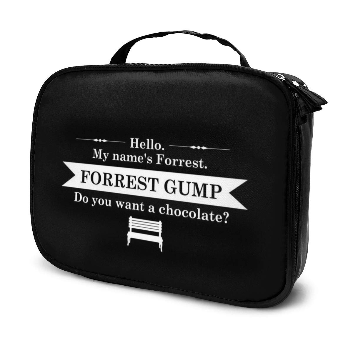Makeup Bag Cosmetic Pouch Forrest Gump Movie Opening Line Multi-Functional Bag Travel Kit