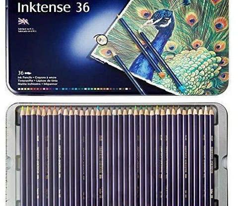 Crayons Watercolor Derwent Inktense (36pcs), Derwent, Art Supplies