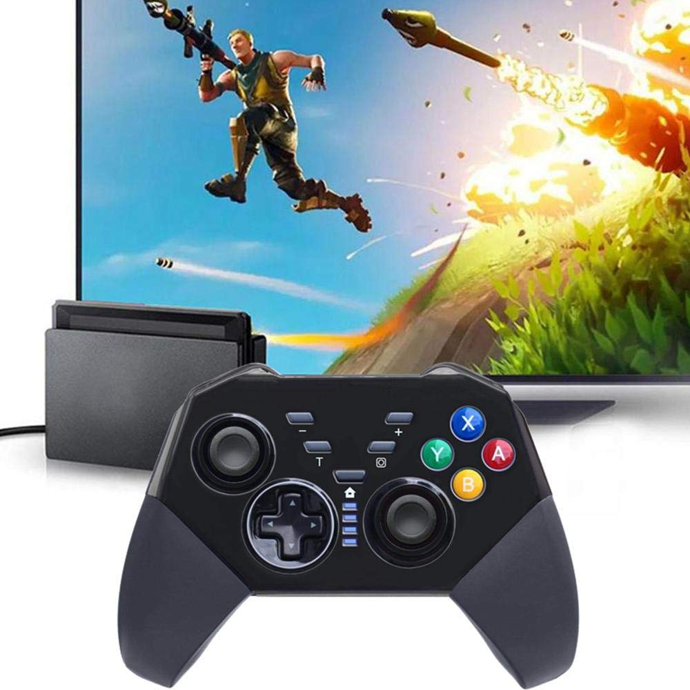 OMKARSY Wireless Controller for Nintendo Switch, Pro Gamepad Compatible with Nintendo Switch,PC and Android (black)