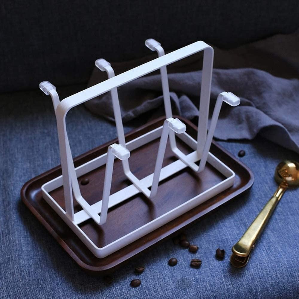 Creative Cup Shelf Storage Rack Glass Cup Rack Home Mug Coffee Drain Cup Holder wx6261543LL (Color : White)