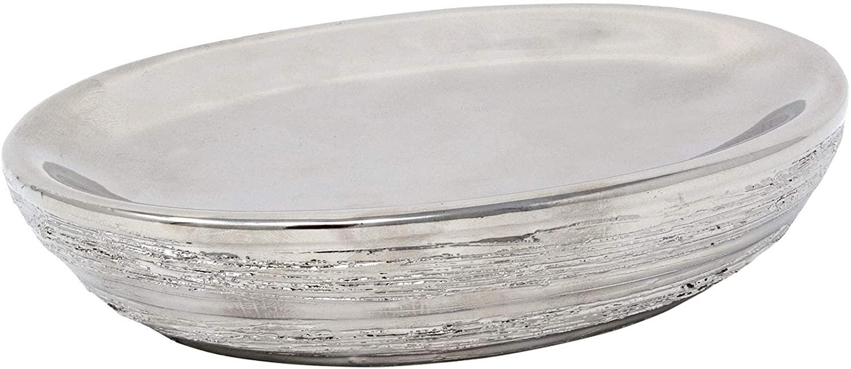 Croscill Darian Bath Soap Dish, Silver