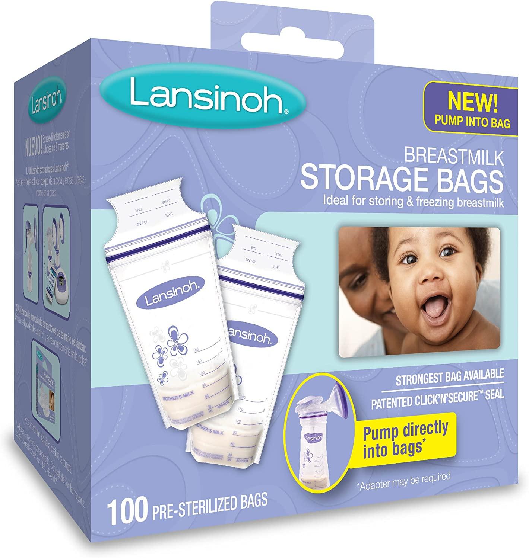 Lansinoh Breastmilk Storage Bags, 100 Count, BPA Free and BPS Free