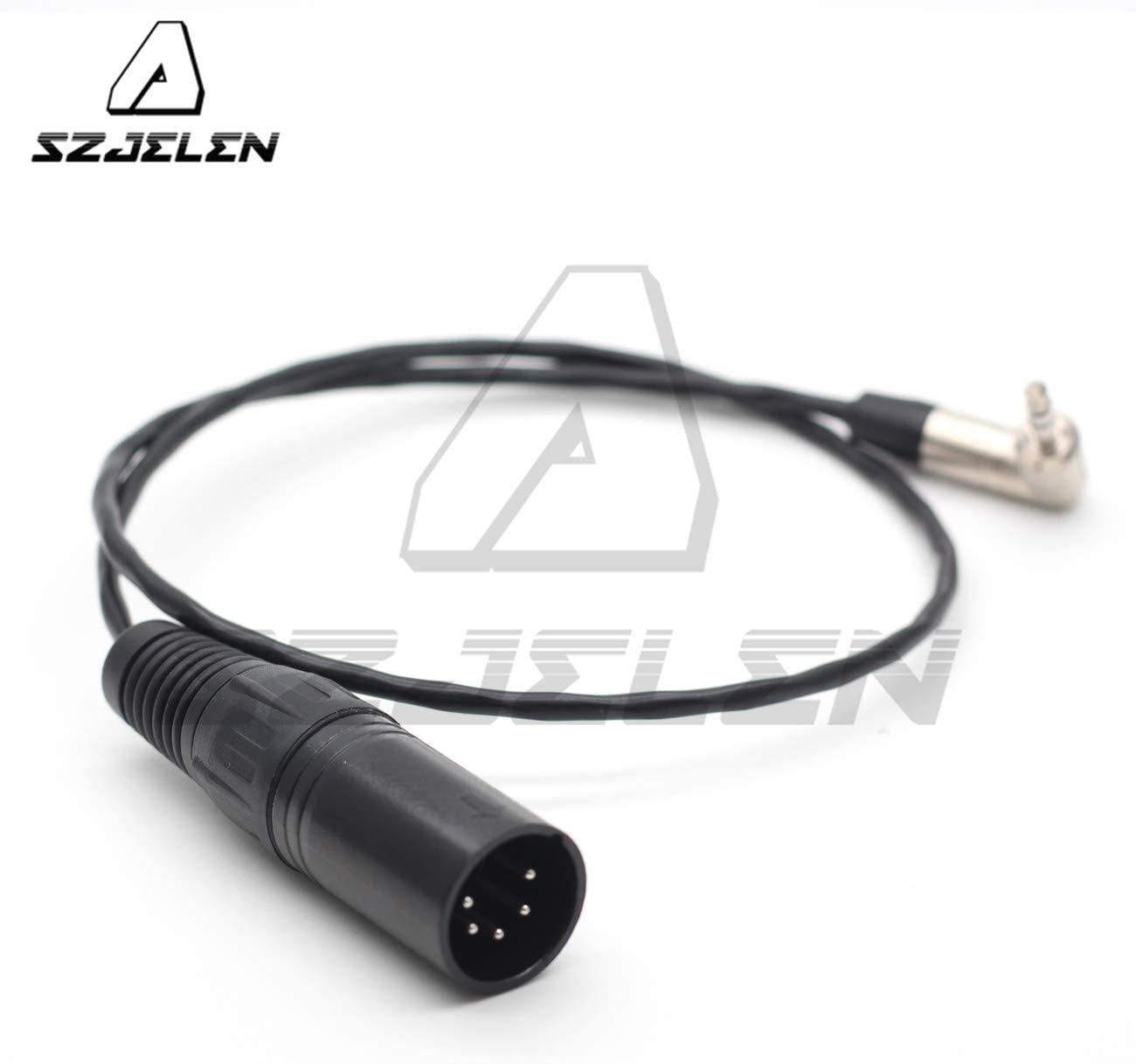 SZJELEN XLR 5pin Male to 3.5mm Audio Cable for Arri Alexa XT Audio Line (80CM)