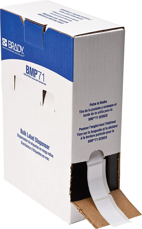 Brady BM71-20-424 General Purpose Paper BMP71 Bulk Labels , White (1,000 Labels per Roll, 1 Roll per Package)