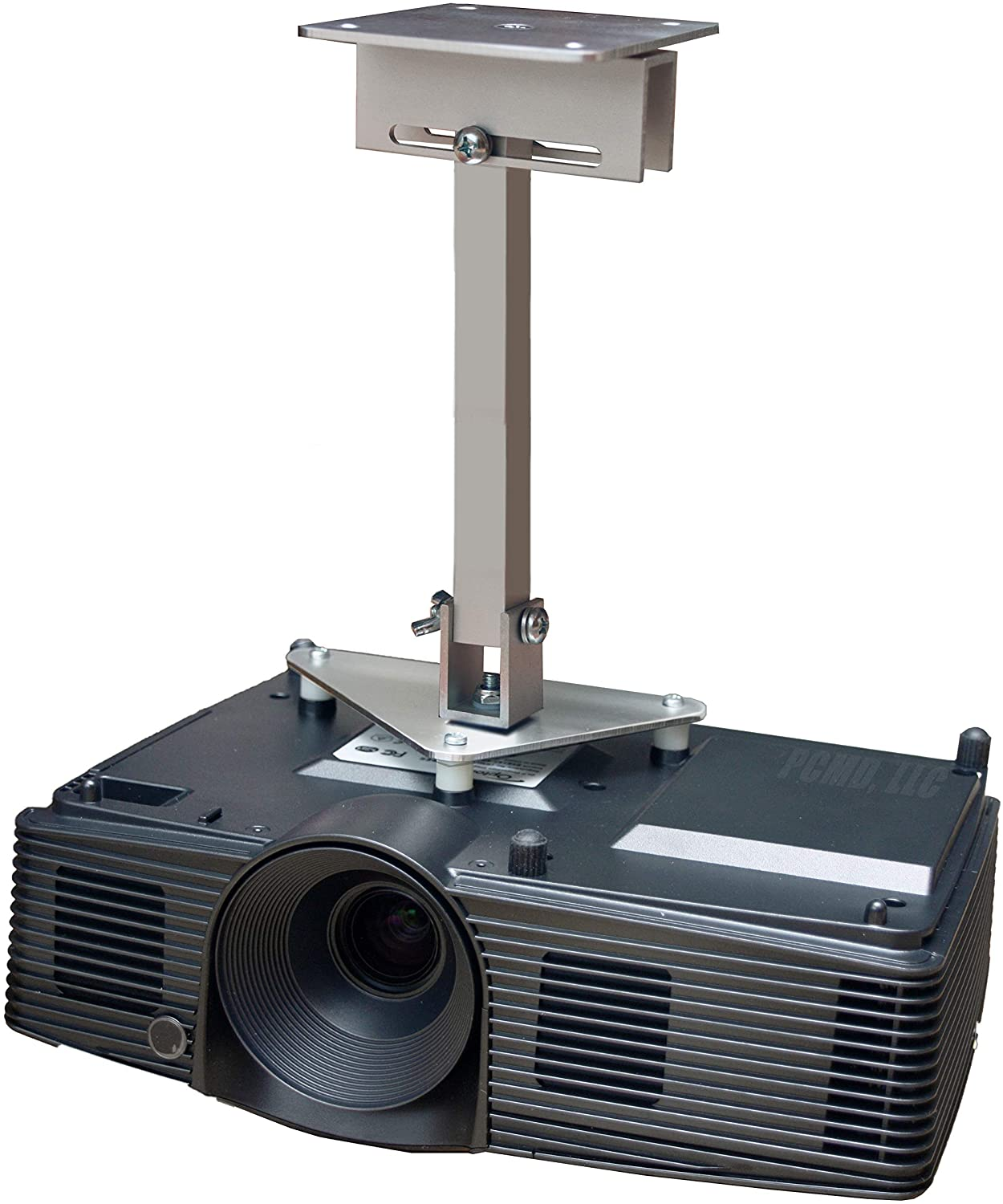 PCMD, LLC. Projector Ceiling Mount Compatible with Optoma EH502 EH512 W502 W512 X502 with Lateral Shift Coupling (12-Inch Extension)