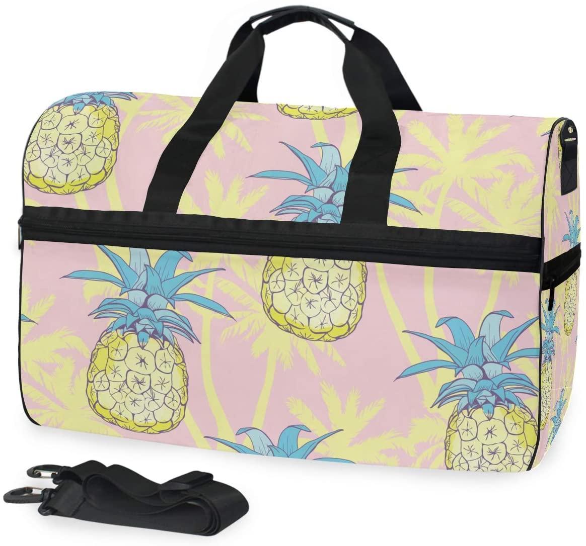 Travel Duffel Bag Summer Pineapple Yellow Luggae Sports Bag