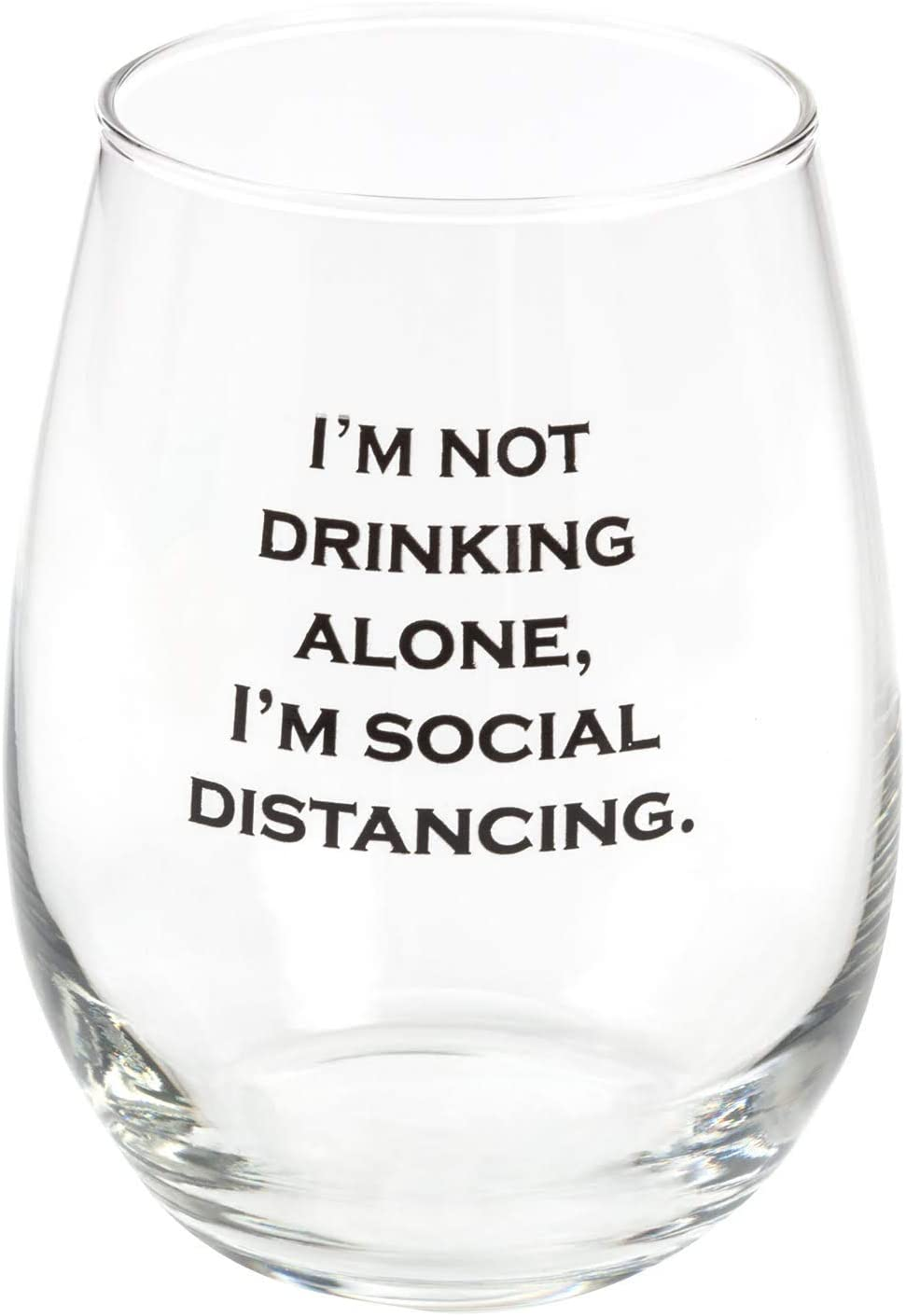 Wine Gifts For Women - Funny Wine Glasses - Quarantine Gifts - Social Distancing Wine Glass