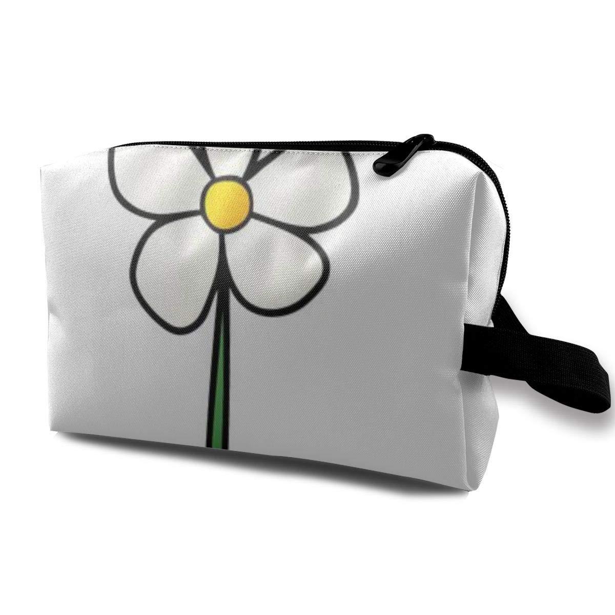 Makeup Bag Cosmetic Pouch Cartoon Single Flower Graffiti Multi-Functional Bag Travel Kit Storage Bag