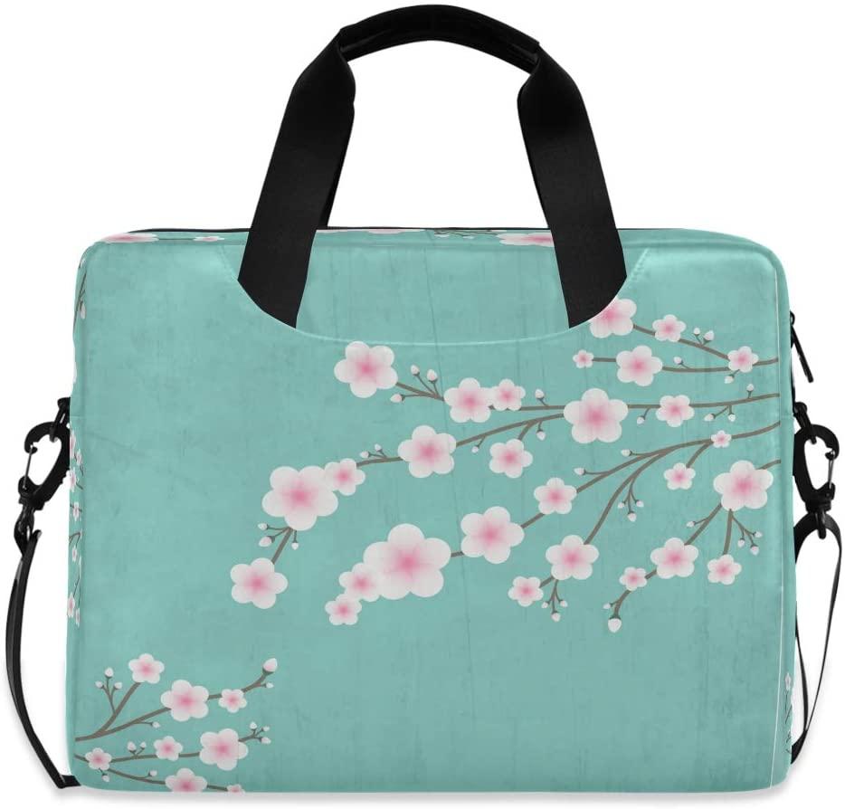 Laptop Bag Briefcase Shoulder Bag - Blooming Cherry Tree 15.6 Inch Tote Bag Laptop Messenger Shoulder Bag Laptop Carrying Bag, Great to Travel, University