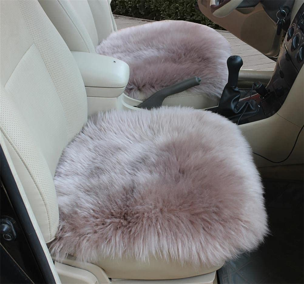 GAOFEI 18 Inch Luxurious Sheepskin Long Wool Car Seat Covers Chair Pad, red Bean Color of a Single pad