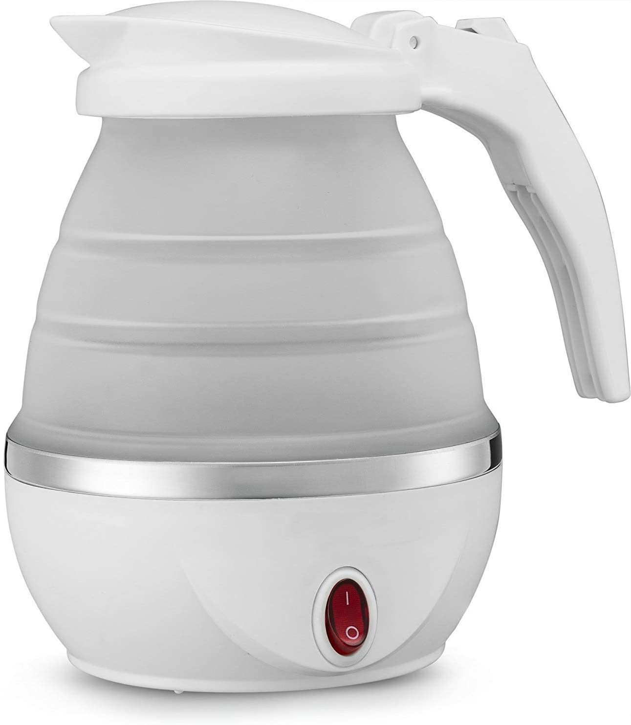 Travel Foldable Electric Kettle - Fast Water Boiling, Small Electric Kettle Food Grade Silicone, Boil Dry Protection