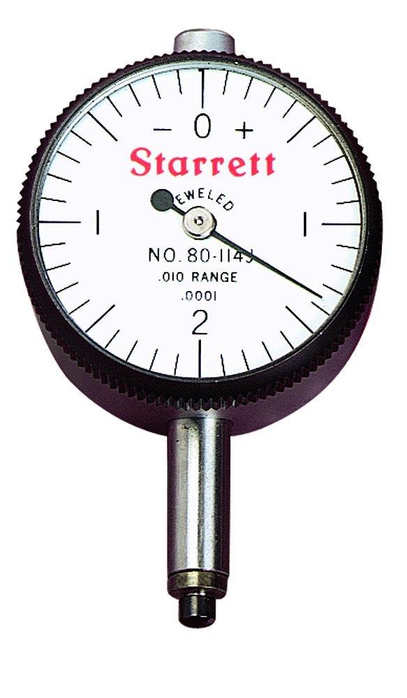 Starrett 80-144J Miniature Dial Indicator, 0.2185