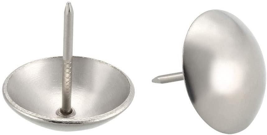 uxcell Upholstery Nails Tacks Furniture Pins 25mm/1 inches Head Dia Thumb Push Pins 80Pcs