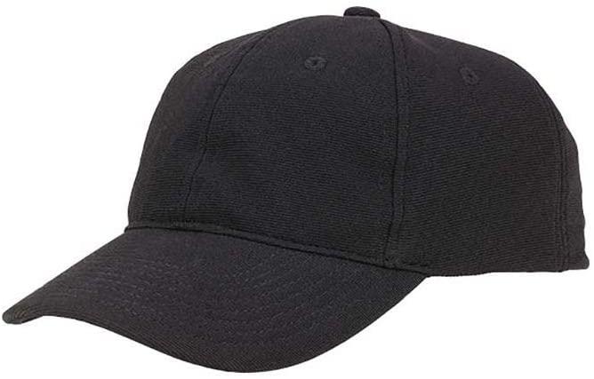 Happy Chef BC113-BLK Black Plain Baseball Cap