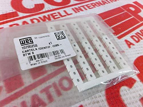 WEG IDB5-BTW-8 Terminal Block Marker Legend 8 50/Pack