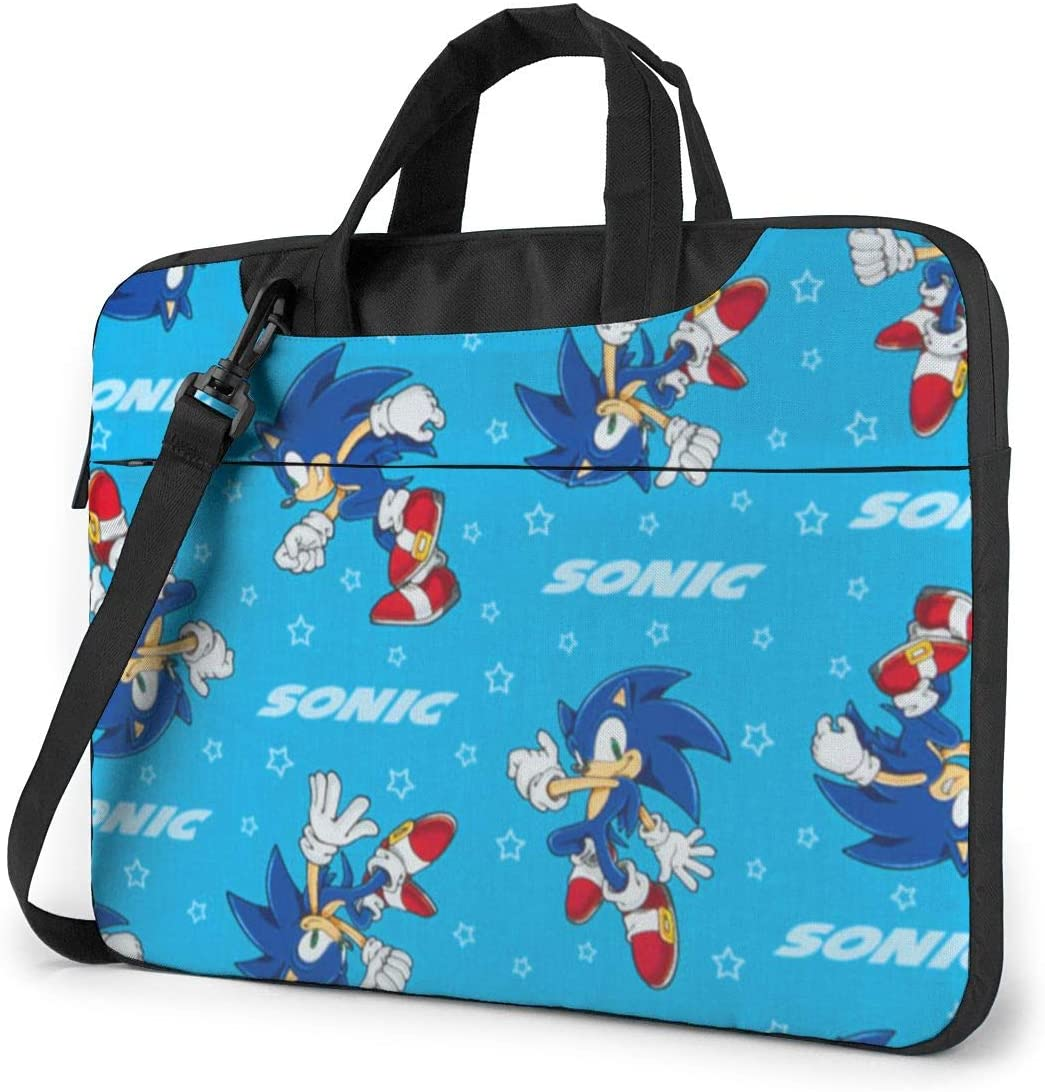 Sonic The Hedgehog Classic Laptop Bag-Messenger Shoulder Bag Notebook Bag Compatible with 14 Inch MacBook Pro MacBook Air Lenovo Acer Asus Dell Hp Samsung